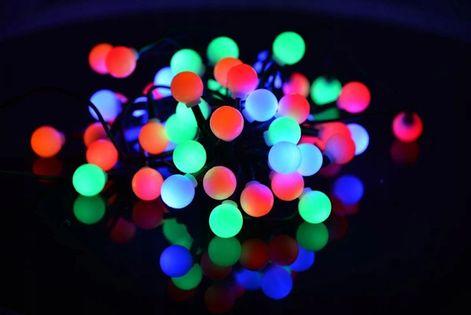 LAMPKI kuleczki 80 LED z gniazdem DEKORACYJNE