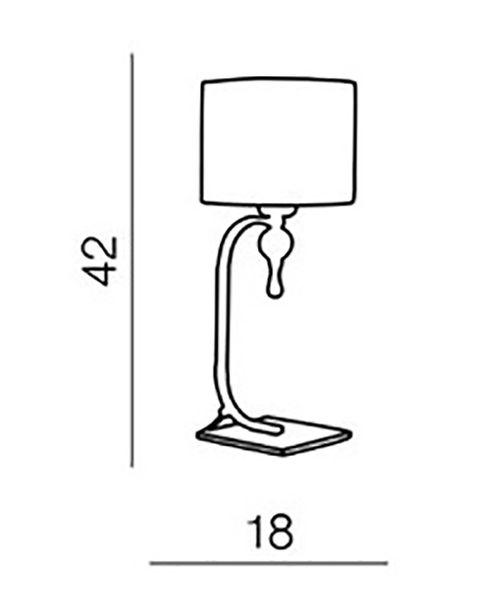 Lampa Lampka Biurkowa Stołowa 42cm z Abażurem E27 zdjęcie 2