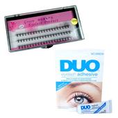 Zestaw rzęsy kępki 10mm profil C+klej DUO Clear 9g