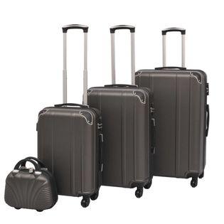 Zestaw walizek na kółkach w kolorze antracytowym 4 szt. VidaXL