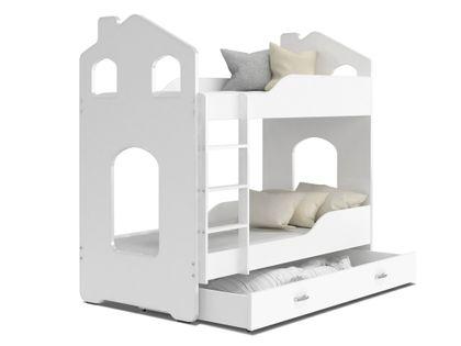 ŁÓŻKO piętrowe DOMINIK domek 160x80 + 2 materace