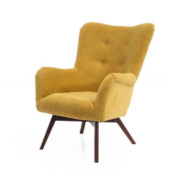 Fotel uszak mały styl skandynawski podnóżek gratis zdjęcie 10