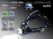 LATARKA CZOŁOWA LED ZOOM CREE XM-L T6 CZOŁÓWKA