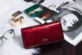 Duży portfel skórzany damski Zagatto czerwony liście RFID ZG-150 Leaf zdjęcie 2