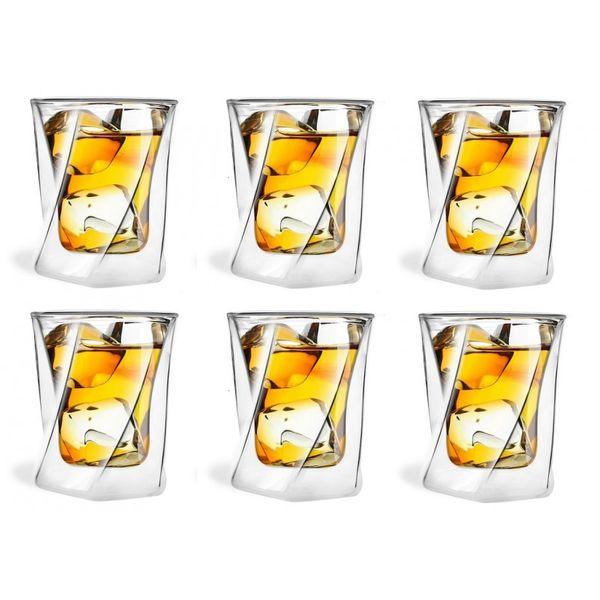 Szklanki Termiczne z Podwójną Ścianką do Whisky Drinków 250ml 6 sztuk zdjęcie 2