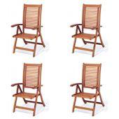 Drewniane krzesła fotele ogrodowe meble krzesło z drewna Bosbury 4szt