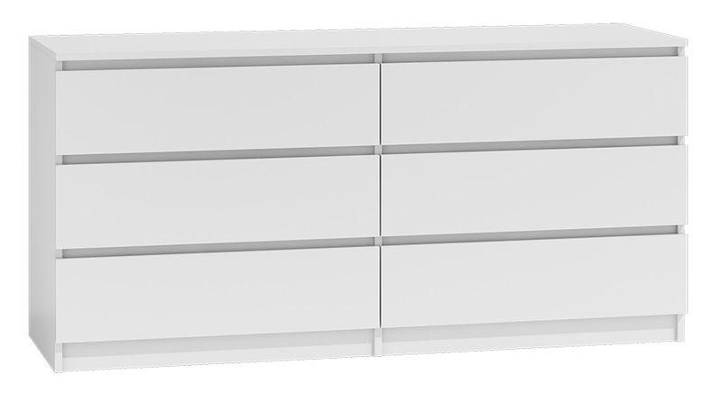Komoda 140cm 6 szuflad biały zdjęcie 1