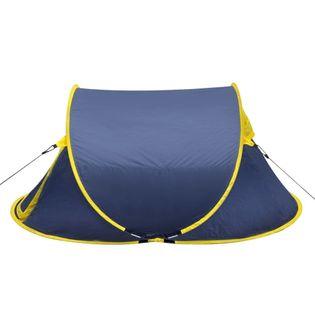 Samorozkładający się namiot 2 osobowy niebiesko żółty VidaXL