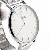 watch2love CLUSE LA BOHEME MESH SILVER WHITE CL18105 38mm GWAR SKLEP
