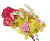 Róża mix -piękny bukiet z przybraniem 8szt 50cm