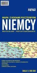 Niemcy 1:1 000 000 mapa z kodami pocztowymi