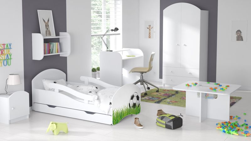 Łóżko dziecięce łóżeczko 140x70 białe szuflada materac dla dziecka zdjęcie 17