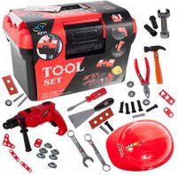 Skrzynka z narzędziami Dla Dzieci Wiertarka 41 elementów Y183