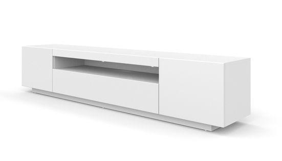 Szafka RTV 200 cm stojąca biały mat