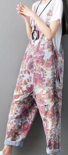 Spodnie Damskie - OGRODNICZKI W KWIATY
