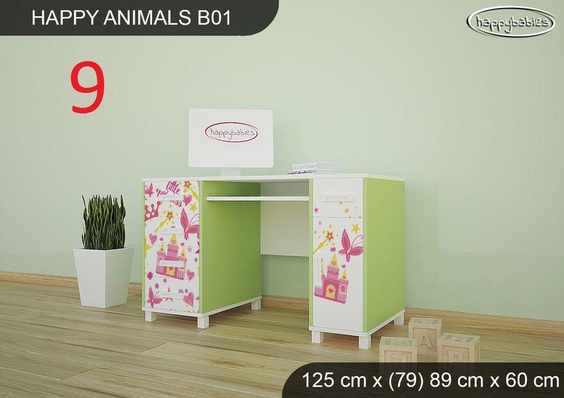 BIURKO DZIECIĘCE  HAPPY ANIMALS B01 AM01 Zielone zdjęcie 24