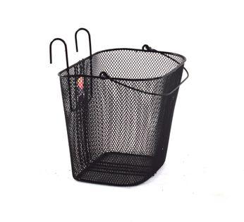 Koszyk rowerowy - metalowy zawieszany - czarny