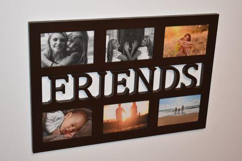 Multirama drewniana  ramka na zdjęcia z napisem  FRIENDS