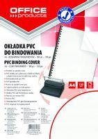 Okładki do bindowania PVC A4 100szt transparentne