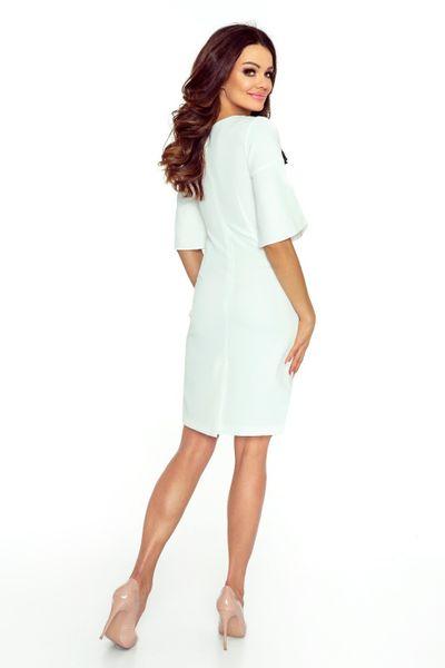 1255402d34 71 12 LISA klasyczna i wygodna sukienka (ecru) Rozmiar - XL zdjęcie 1 ...