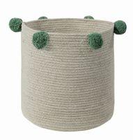 Ø30cm NATURAL Green bawełniany kosz dekoracyjny