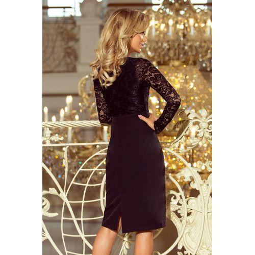 011875ec44 EMMA elegancka ołówkowa sukienka z koronką - CZARNA S • Arena.pl