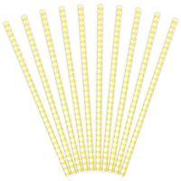 Słomki papierowe KARO kratka żółte 10 szt