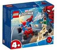 Klocki Super Heroes  Pojedynek Spider Mana z Sandmanem 76172
