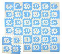 Humbi Puzzle piankowe Mata piankowa edukacyjna Pociąg Alfabet Cyfry 180x180x1 cm