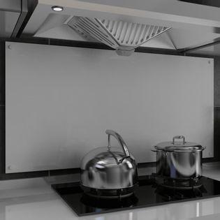 Lumarko Panel ochronny do kuchni, biały, 120x60 cm, szkło hartowane