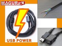Przedłużacz Mini USB POWER do ładowania tabletu , smartfona 10m