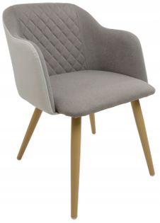 Fotel Dankor Design Diamond Szary / j. beż