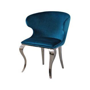 Krzesło glamour Victor Dark Blue nowoczesne krzesło tapicerowane