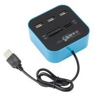 HUB USB 2.0 COMBO z czytnikiem kart MS / M2 / SD / TF
