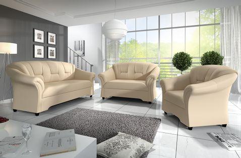 Zestaw mebli do salonu ALEX 3+2+1 - dwie sofy i fotel wypoczynkowy
