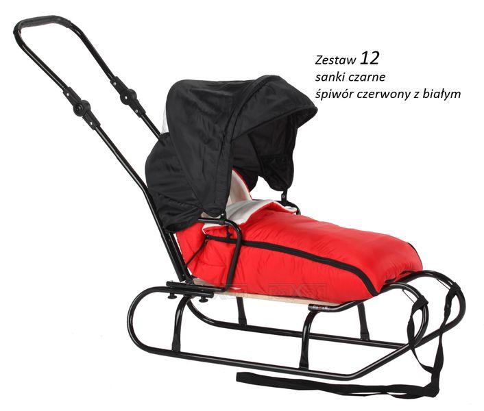 SANKI dla dzieci z budką, śpiworem, pchaczem 33 zestawy kolorystyczne zdjęcie 18