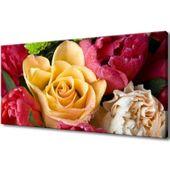 Obraz Na Ścianę 115X55 Zroszona Róża Płatki Róży