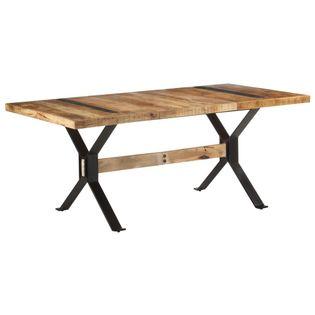 Lumarko Stół jadalniany, 180 x 90 x 76 cm, surowe drewno mango