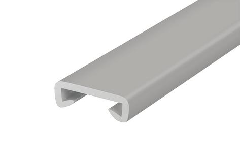 Listwa poręczowa PCV STANDARD, poręczówka 40x8 mm  szary 1mb
