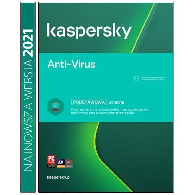 Kaspersky Anti-Virus 3PC / 2Lata Kontynuacja na Arena.pl