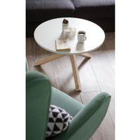 Biały Stolik kawowy TRIP w stylu skandynawskim