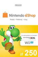 Nintendo 250zł eShop Karta Kod Prepaid Klucz 3DS