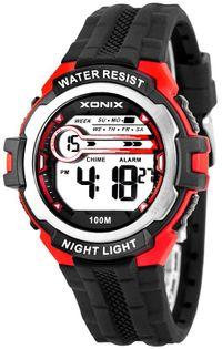 Xonix Sportowy zegarek elektroniczny, model męski, wielofunkcyjny, timer, alarm, podświetlenie, WR 100M