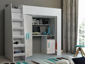 Łóżko piętrowe FIGO antresola szafki zestaw RIBES zdjęcie 7