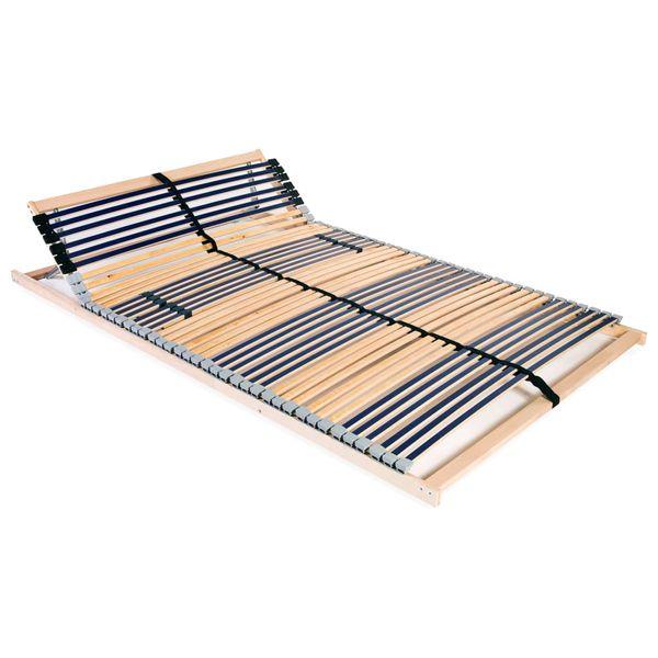 Stelaż Do łóżka Z 42 Listwami Drewno Fsc 7 Stref 120x200 Cm Gxp 680211