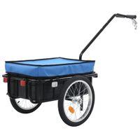 Przyczepa rowerowa/taczka, 155x61x83 cm, stalowa, niebieska