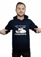 Bluza kangur męska NIE MAM CZASU JADĘ CZOŁGIEM XL