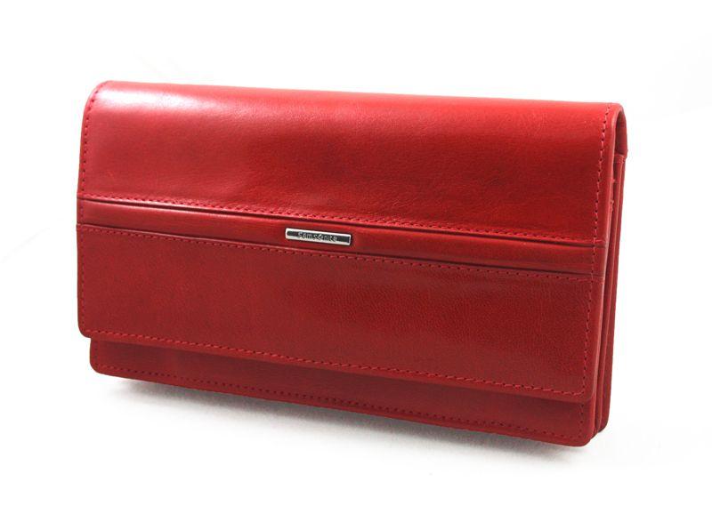 Portfel damski Samsonite RFID, skórzany w kolorze czerwonym zdjęcie 1