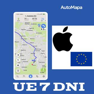 AutoMapa Europy licencja na tydzień (7 dni) iOS