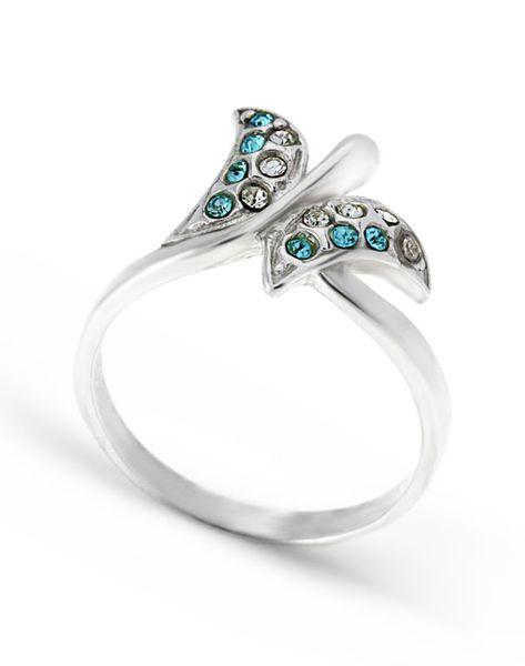 pierścionek rozmiar: 15 ,srebro 925 i kryształki zdjęcie 1